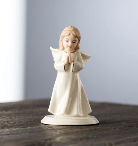 Belleek Living Mini Angel Of Prayer